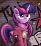 2018 bugplayer clothing digital_media_(artwork) equine female feral friendship_is_magic hair hoodie horn mammal my_little_pony purple_eyes purple_hair solo twilight_sparkle_(mlp) winged_unicorn wingsRating: SafeScore: 4User: MillcoreDate: March 23, 2018