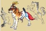 ambiguous_gender avian bird canine duo feral hat mammal markings pearleden stumpy traditional_media_(artwork)Rating: SafeScore: 2User: DogenzakaDate: August 08, 2009