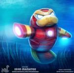 ambiguous_gender anthro armor cryptid-creations humor iron_man machine mammal manatee marine marvel power_armor pun solo underwater water white_eyesRating: SafeScore: 5User: ClawstripeDate: June 18, 2018