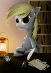 2012 absurd_res amber_eyes anthro anthrofied blonde_hair book bookshelf candle derpy_hooves_(mlp) detailed_background envelope equine feathered_wings feathers female fire friendship_is_magic grey_feathers hair hereticofdune hi_res ink inkwell lantern letter looking_at_viewer loose_feather mammal my_little_pony pegasus photo quill solo table wingsRating: SafeScore: 12User: Rainbow_DashDate: July 15, 2012