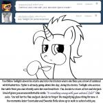 bitterplaguerat dialogue english_text equine fan_character feral food horn horse loki_(bitterplaguerat) mammal my_little_pony pony solo spoon text unicorn