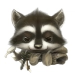 2011 ambiguous_gender anthro cub cute keys mammal procyonid raccoon silverfox5213 simple_background soap_pump solo white_background young