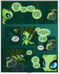 celebi comic english_text female forest grass kecleon legendary_pokémon male ms_paint nintendo pokémon pokémon_(species) pokémon_victory_fire speech_bubble sulfurbunny_(artist) text tree video_games