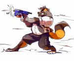 2016 absurd_res anthro canine claws clothed clothing fur gun hi_res male mammal ranged_weapon super-tuler weaponRating: SafeScore: 1User: Rysaerio-MisoeryDate: December 12, 2017