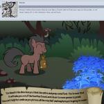 animated bitterplaguerat bush earth_pony equine feral forest horse loki_(bitterplaguerat) mammal mushroom my_little_pony pony smile solo text treeRating: SafeScore: -3User: Aryanne_HooflerDate: April 25, 2017