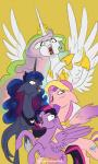 2018 absurd_res crown equine feathered_wings feathers female feral friendship_is_magic glittering-white group hi_res horn jewelry mammal my_little_pony necklace princess_cadance_(mlp) princess_celestia_(mlp) princess_luna_(mlp) twilight_sparkle_(mlp) winged_unicorn wingsRating: SafeScore: 6User: ConsciousDonkeyDate: May 04, 2018