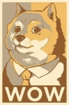 ambiguous_gender black_eyes black_nose canine clothed clothing dog doge english_text fur looking_at_viewer mammal meme necktie obamicon shiba_inu shirt solo suit tan_fur text uguubearscafe