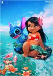 2017 alien black_hair blue_eyes blue_fur blue_nose border chest_tuft claws clothing detailed_background digital_drawing_(artwork) digital_media_(artwork) disney duo_focus experiment_(species) female fish flower fur grass_skirt group hair head_tuft hibiscus horizon human koi lilo_and_stitch lilo_pelekai long_hair mammal marine notched_ear open_mouth open_smile plant rossdraws sea signature simple_background sitting sky smile standing stitch tube_top tuft wakeboard water white_background white_borderRating: SafeScore: 9User: BooruHitomiDate: October 09, 2017