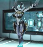 alien big_breasts breasts featureless_breasts female hi_res lewdreaper navel not_furry nyx_(warframe) restrained solo technology tenno video_games warframe wide_hipsRating: SafeScore: 1User: Cat-in-FlightDate: September 22, 2017