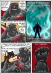 bear canine clothing comic feline lion male mammal mind_control muscular polar_bear rubber rubberbuns wolf