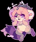 2018 ambiguous_gender ambiguous_species anthro digital_media_(artwork) fluffily fur hair horn looking_at_viewer mammal markings multicolored_hair open_mouth simple_background smile solo standing tongue unicorn_hornRating: SafeScore: 0User: furrycoreDate: January 19, 2018