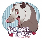 <3 holidays humor insult mammal marsupial open_mouth opossum reaction_image salkitten solo teeth text tongue trash valentine's_dayRating: SafeScore: 75User: Spotty_McSpotfaceDate: April 29, 2016