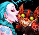 2013 <3 alpha_channel anthro bomb duo explosives female grin half-closed_eyes human jinx_(lol) league_of_legends licking looking_at_viewer male mammal momo-deary pale_skin pink_eyes riot_games saliva simple_background smile suggestive tattoo tongue tongue_out transparent_background video_games yordle ziggsRating: SafeScore: 51User: MunkelzahnDate: October 16, 2013