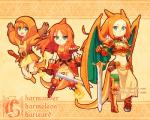 abstract_background age_progression alternate_species animal_humanoid armor bangage belt boots breasts charizard charmander charmeleon clothed clothing crouching dav-19 female flaming_tail footwear front_view fully_clothed gauntlets gloves green_eyes hair holding_object holding_weapon hood humanoid jumping leather leather_armor legwear loincloth looking_at_viewer melee_weapon membranous_wings multiple_poses nintendo orange_theme pauldron pokemon_humanoid pokéball pokémon pokémon_(species) pose red_hair solo spiked_armor spread_wings standing sword tights tunic unconvincing_armor video_games weapon wingsRating: SafeScore: 7User: SnowWolfDate: January 09, 2018