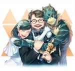 academy_of_motion_picture_arts_and_sciences amphibian_man animal_humanoid award bow_tie claws clothing dress eliza_esposito eyewear fin fish_humanoid gills glasses group guillermo_del_toro hairband happy hug human humanoid jewelry mammal na1ta one_eye_closed ring smile suit teeth the_shape_of_water trophyRating: SafeScore: 12User: Alm-PeDate: March 10, 2018