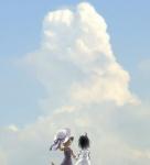 cat cloud cloudscape duo feline female hat koishi_chikasa mammal outside skyRating: SafeScore: 4User: mscDate: August 29, 2009
