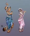 2008 anthro belly_dancer clothing dancing dress duo feline female hybrid imli loris male mammal marbled_cat marsupial monkey odissi paleo primate slow_loris thumbclawz thylacoleo tribalRating: SafeScore: 3User: LadyFuzztailDate: July 04, 2010