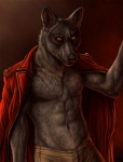 2012 abs anthro biceps black_nose canine clothed clothing fur grey_fur jacket luther male mammal muscular open_shirt pants partially_clothed pecs pose rukis scar shirt solo standing wolf yellow_eyesRating: SafeScore: 12User: Pand0ricDate: December 21, 2012