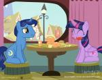 2017 blue_hair building cutie_mark detailed_background duo eating equine female feral friendship_is_magic hair hi_res horn house inside magic male mammal multicolored_hair my_little_pony night_light_(mlp) shutterflyeqd sitting sky table twilight_sparkle_(mlp) two_tone_hair unicorn window winged_unicorn wingsRating: SafeScore: 3User: ConsciousDonkeyDate: June 24, 2017