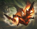 2011 amazing ambiguous_gender cloud cloudscape dragon feral fire flying glowing jason_chan magic_the_gathering official_art open_mouth outside scalie sky smoke solo sparks three-quarter_view wizards_of_the_coastRating: SafeScore: 31User: LinneferDate: August 03, 2013