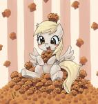 2017 blonde_hair blush cub cute derp_eyes derpy_hooves_(mlp) equine eyelashes feathered_wings feathers female food friendship_is_magic full-length_portrait hair holding_food holding_object japanese_text looking_at_viewer makeup mammal mascara muffin my_little_pony nude open_mouth open_smile pattern_background pegasus portrait signature simple_background sitting smile solo striped_background text wings yanamosuda yellow_eyes youngRating: SafeScore: 7User: GlimGlamDate: January 19, 2018