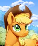 2018 ambiguous_gender applejack_(mlp) avian bird blonde_hair cutie_mark earth_pony equine eyes_closed feral friendship_is_magic green_eyes hair hat hi_res horse macro mammal multicolored_hair my_little_pony outside pegasus pony rainbow_dash_(mlp) tsitra360 wings