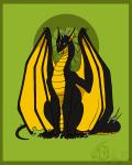abstract_background ambiguous_gender animated border claws dragon feral green_background hiding membranous_wings ostinlein pointy_ears scalie shy signature simple_background solo spiked_tail spikes wings yellow_eyesRating: SafeScore: 101User: PolybiusDate: April 29, 2016