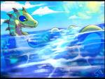 2016 aquatic_dragon bioluminescence blue_markings cloud countershading dragon glowing lantis_atoll_(sleeplesstotodile) markings sleeplesstotodile sun waterRating: SafeScore: 5User: AkvoDate: June 18, 2018