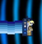 animated balddumborat blue_eyes bow_tie cross-eyed derpy_hooves_(mlp) digital_media_(artwork) doctor_who doctor_whooves_(mlp) duo earth_pony epilepsy_warning equine feathered_wings feathers female feral flying friendship_is_magic hair happy horse long_hair male mammal my_little_pony nyan_cat phone_booth pixel_(artwork) pixel_animation pony smile standing tardis text wings yellow_eyes
