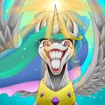2016 aerostoner blue_background crown equine fan_character feathered_wings feathers female feral friendship_is_magic fur hair hi_res horn insane jewelry lol_comments looking_at_viewer magic mammal multicolored_hair my_little_pony necklace nightmare_fuel portrait princess_celestia_(mlp) princess_molestia purple_eyes rape_face reaction_image royalty simple_background smile solo spread_wings what where_is_your_god_now white_fur winged_unicorn wings