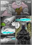 bear clothing comic male mammal mind_control muscular polar_bear rubber rubberbuns