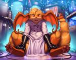 ambiguous_gender anthro clothing fur gloves hair hybrid kilver lab_coat looking_at_viewer nintendo open_mouth pokémon raichu sitting smile solo technology thick_thighs video_gamesRating: SafeScore: 4User: Cat-in-FlightDate: April 24, 2017