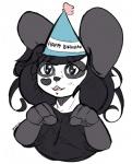 <3 anthro bear birthday black_hair blue_eyes clothed clothing cute female fur hair hat ken_ashcorp kenny kenny_(kenashcorp) looking_at_viewer mammal meryiel panda sketch smile soloRating: SafeScore: 1User: MeryielDate: March 09, 2017