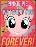 big_brother blue_eyes breaking_the_fourth_wall crossover earth_pony english_text equine fallout fallout_equestria female friendship_is_magic fur hi_res horse mammal meme my_little_pony nineteen_eighty-four pink_fur pinkie_pie_(mlp) pony poster propaganda risenlordm solo text video_games