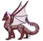 dragon feral hi_res horn khaleesi male markings membranous_wings simple_background solo standing white_background wings