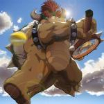 anthro big_muscles bowser bracelet jewelry male mario_bros masabowser muscular nintendo nude shell solo tennis video_gamesRating: SafeScore: 8User: TealmarketDate: August 25, 2016