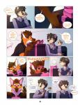 2016 <3 anthro ben_(roanoak) brown_fur brown_hair brown_nose canine clothed clothing comic cute english_text female fur hair male mammal maned_wolf orange_fur red_eyes roanoak sandra_(roanoak) simple_background text timber_wolf white_fur wide_eyed wolf yellow_eyes