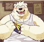 anthro bear blush clothed clothing eyewear garouzuki ken_(garouzuki) male mammal overweight smileRating: SafeScore: 4User: fogelsnachDate: July 09, 2017