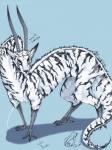 ambiguous_gender blue_eyes dragon eastern_dragon feline feral flesh_whiskers fur furred_dragon horn mammal noite_azul solo striped_fur stripes talons tiger white_furRating: SafeScore: 3User: g3kk3yDate: November 19, 2017