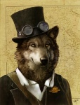 2010 absurd_res amber_eyes anthro australia australian black_fur black_nose brown_fur canine clothed clothing coat countershading digital_media_(artwork) eyewear fur goggles grey_fur hat hi_res jacket looking_at_viewer male mammal map novawuff portrait shirt signature simple_background smile solo steampunk suit tan_background toff top_hat whiskers white_countershading wolf yellow_eyesRating: SafeScore: 69User: MunkelzahnDate: June 19, 2013