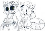 2016 anthro athletic belt big_eyes big_head big_tail black_and_white black_sclera cape cheek_tuft clothed clothing cute digital_drawing_(artwork) digital_media_(artwork) duo eyebrows eyewear facial_hair fluffy fluffy_tail front_view fully_clothed fur gloves goggles happy hat hood jacket league_of_legends line_art long_tail low_res male male/male mammal mask monochrome pants partially_colored portrait riot_games shirt simple_background slim smile square_crossover sweater teemo_(lol) teemo_the_yiffer teeth three-quarter_portrait toony tuft veigar-chan vest video_games white_background yellow_eyes yordleRating: SafeScore: 2User: Nicklo6649Date: April 18, 2018