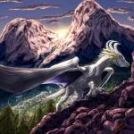 2018 armanie-zacharias curved_horn detailed_background digital_media_(artwork) dragon feral membranous_wings solo standing wingsRating: SafeScore: 4User: MillcoreDate: January 23, 2018