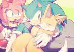 amy_rose anthro aoki6311 canine clothing female fox gloves group hedgehog hug male mammal miles_prower sleeping sonic_(series) sonic_the_hedgehog video_gamesRating: SafeScore: 4User: Cane751Date: February 19, 2018