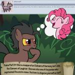 animated bitterplaguerat earth_pony equine friendship_is_magic horse loki_(bitterplaguerat) mammal my_little_pony pinkie_pie_(mlp) pony solo text thinking thought_bubble yellow_eyes