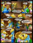 anthro band-aid bandage clothed clothing comic english_text eyes_closed female kitsune_youkai koopa koopa_troopa koopie_koo koops male mario_bros nintendo open_mouth paper_mario reptile scalie speech_bubble text tongue turtle video_games