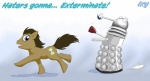 blue_eyes brown_hair dalek doctor_who doctor_whooves_(mlp) earth_pony english_text equine exterminate feral friendship_is_magic hair hi_res horse male mammal my_little_pony pony solo text unknown_artistRating: SafeScore: 10User: RenaDyneDate: April 26, 2011