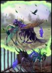 2016 avian begasuslu bird black_fur blue_eyes blue_hair bone changeling duo equine female feral friendship_is_magic fur green_eyes green_hair hair hi_res horn insect_wings jewelry magic mammal my_little_pony necklace nightmare_moon_(mlp) outside queen_chrysalis_(mlp) skeleton sky slit_pupils tree winged_unicorn wingsRating: SafeScore: 10User: slyroonDate: May 24, 2017