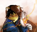 anime feline fullmetal_alchemist kiki-uma low_res male mammal roy_mustang solo