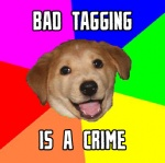 abstract_background advice advice_dog advice_meme amazing ambiguous_gender black_eyes black_nose brown_fur canine caption colorful compression_artifacts cute disembodied_head dog e621 english_text fangs feral floppy_ears fur golden_retriever happy headshot_portrait humor image_macro looking_at_viewer low_res mammal meme message not_jesus open_mouth portrait public_service_announcement rainbow reaction_image real serious simple_background smile solo tagging_guidelines_illustrated teeth text the_truth tongue unknown_artist white_text