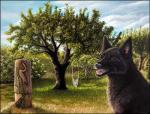 2018 black_fur black_nose brown_eyes canine day detailed_background dog fur grass mammal open_mouth outside sidonie sitting sky smile teeth treeRating: SafeScore: 10User: MillcoreDate: February 15, 2018